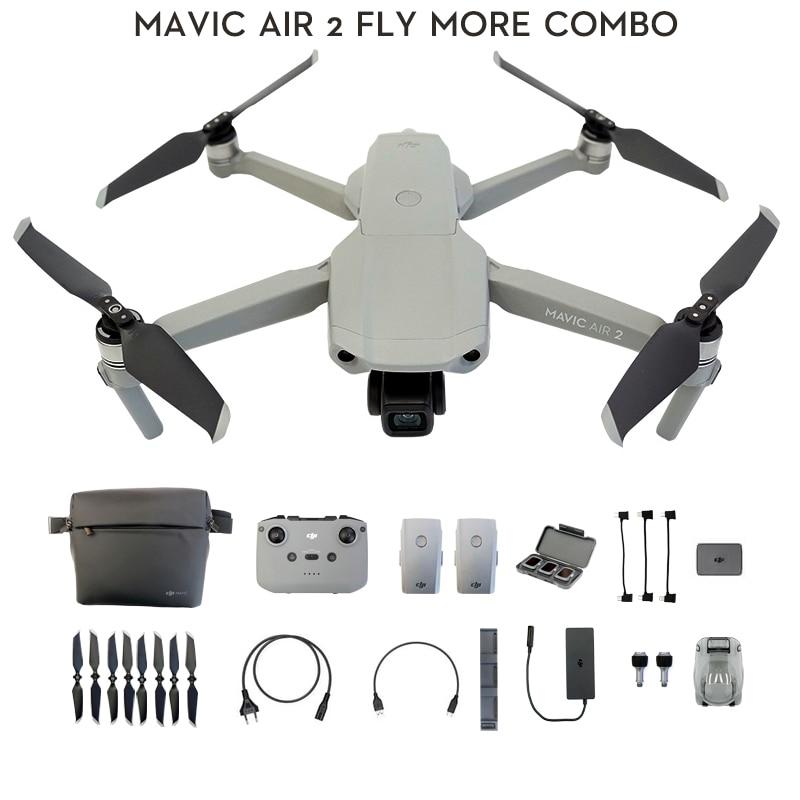 DJI Mavic Air 2 /Mavic Air 2 fly more combo drone with 4k camera 34 min Flight Time 10km 1080p Video Transmission Newest|Camera Drones|   - AliExpress
