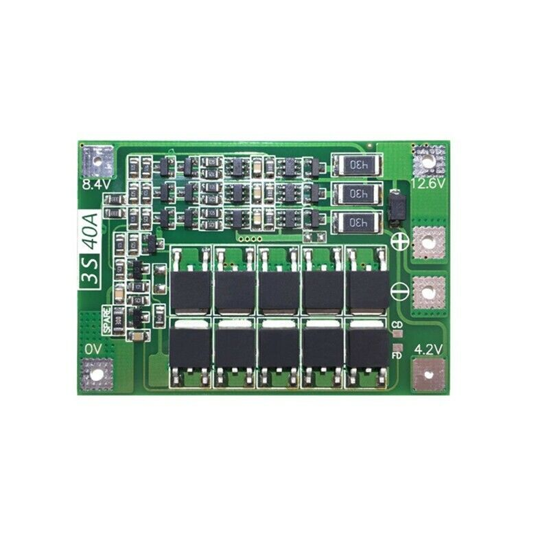 FULL-3S 40A Li-Ion Lithium Battery Charger Protection Board PCB BMS With Balancer For Drill Motor 11.1V 12.6V Lipo Cell Module