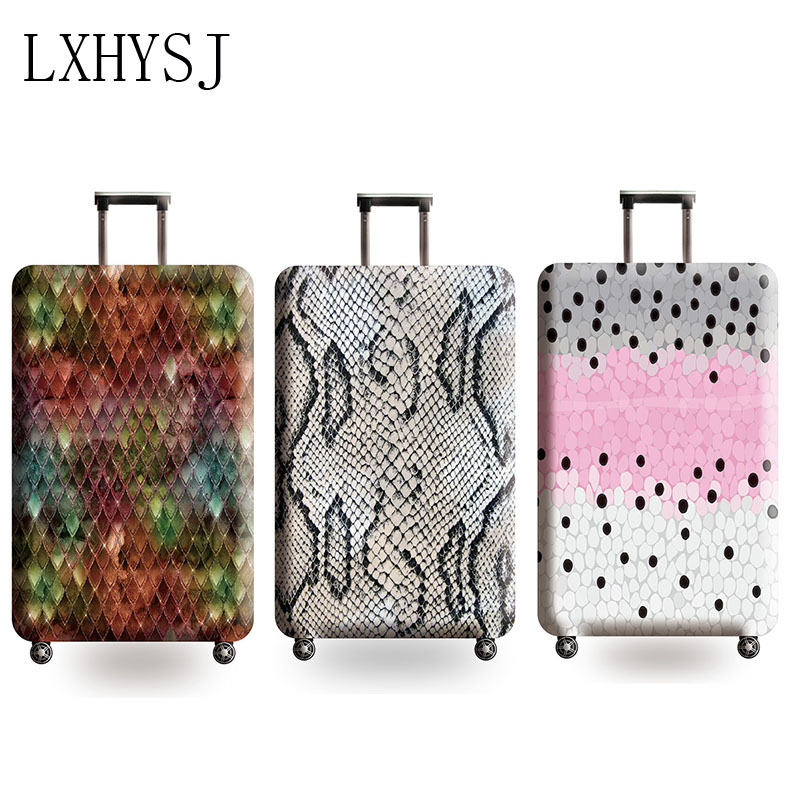 Snake Pattern Luggage Cover Elasticity Suitcase Protective Covers Luggage Protection Suitable Case 18-32 Inches Suitcase Cover