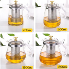 Glass Teapot 1000ml Puer Tea Kettle Teapot Green Tea Milk Oolong Teapots Removable Stainless Steel Liner Heat Resistant Tea Pot 100gshuixian rock tea dahongpao tea big red robe shuixian wuyi cliff oolong tea free shipping