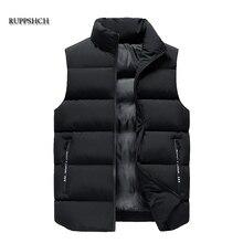 Men Vest Vest Vest Casual Vest Autumn and Winter Thickening Increase M-8Xl Down Jacket Men