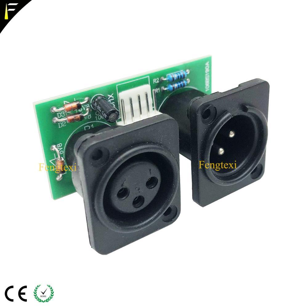Image 4 - 2pcs 7R/5R 200/230 DMX512 신호 연결 보드 부품 작은 PCB 3pin XLR DMX 커넥터 칩 보드 수리 교체무대 조명 영향등 & 조명 -