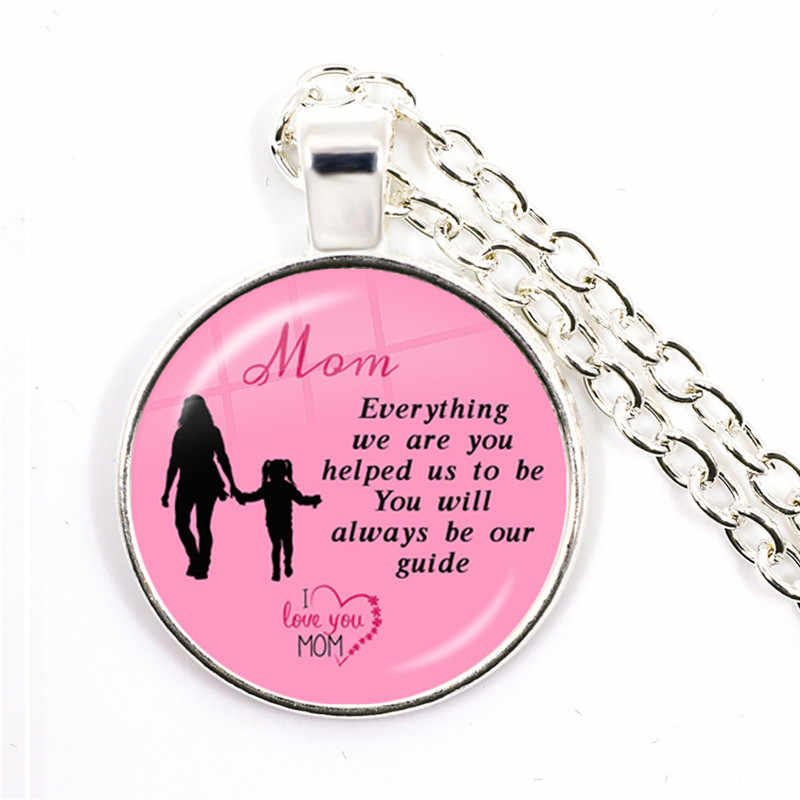 """«J'aime Maman» 25mm Verre Cabochon Collier """"J'aime Papa» Pendentif Collier Bijoux Pour La Fête des Pères fête des Mères Cadeaux Créatifs"""