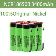 2021 New Original 18650 Battery NCR18650B 3.7V 3400mah 18650 Lithium Rechargeable Battery Welding Nickel Sheet batteries