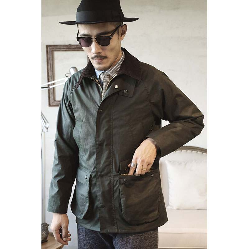 BBR-0002 Read Description! Asian Size Very Good Quality Cotton Wax Water Proof Jacket