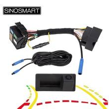SINOSMART управление шиной CAN Реверсивный динамический траектории парковки Камера для Skoda OCTAVIA III Volkswagen 187B 280 MQB PQ Audi A3 A5 Q5 Q2