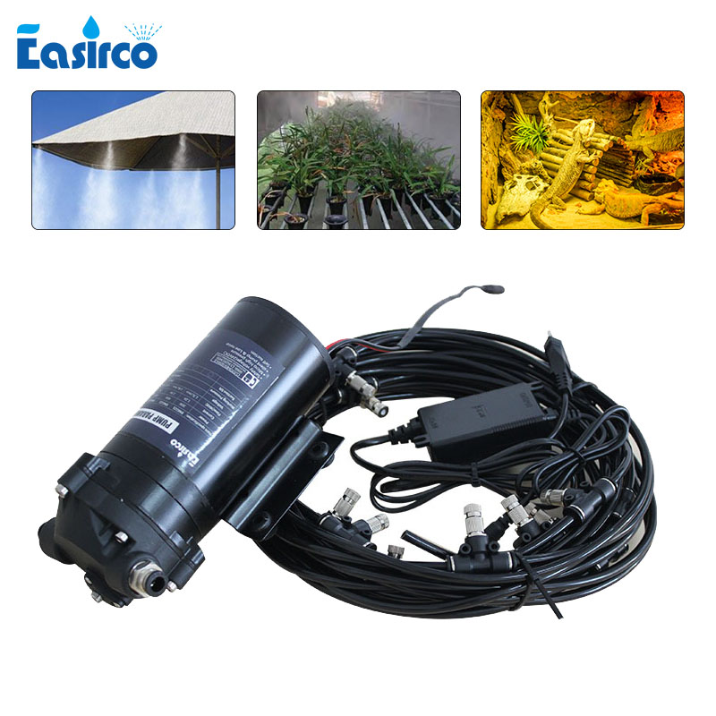 Disinfection Machine Antiseptic Mist Pump Outdoor Mist Cooling System 40 Mist Nozzle  Water Spray System
