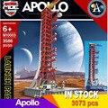 114 см в высоту, 3586 шт., пусковая пушистая башня Apollo Saturn-V для 21309, подходит для технического строительства, рождественский подарок