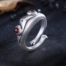 Anello rana gotica per donna uomo Design artistico anelli Unisex ridimensionabili con apertura retrò gioielli in argento Color oro
