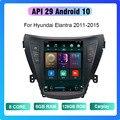 COHO для Hyundai Elantra 2011-2015 Android 10,0 Octa Core 6 + 128G автомобильный одетвожатель мультимедийный odbiornik стерео радио