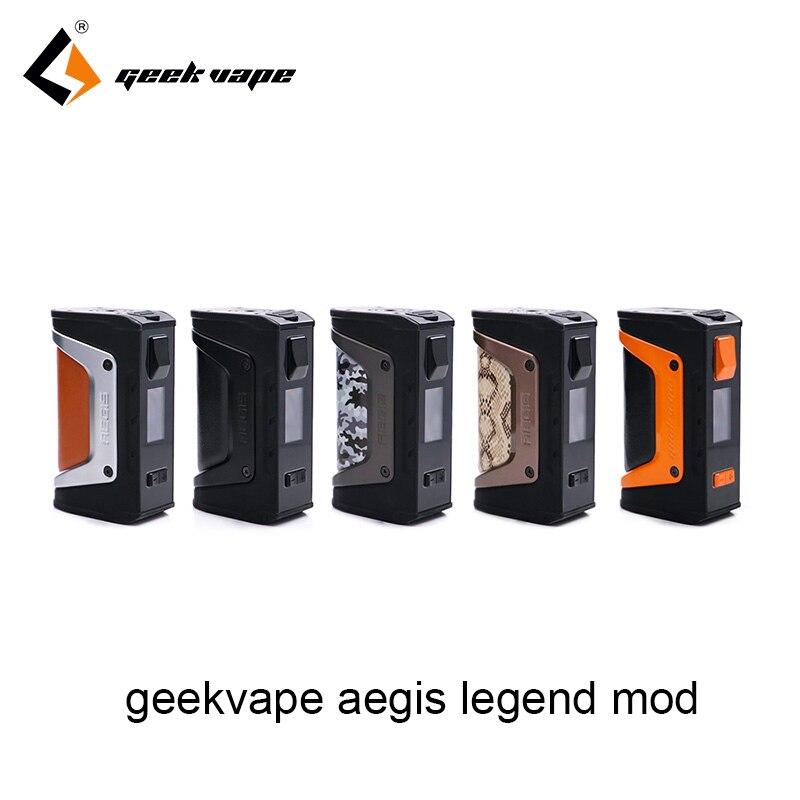 Nouvelle couleur GeekVape Aegis mod aegis Legend 200W TC Box MOD alimenté par de doubles batteries 18650 e cigs pas de batterie pour zeus rta blitzen
