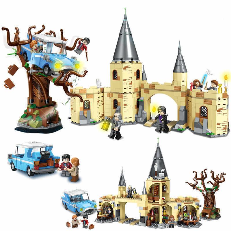 Nieuwe Harri Movie Magic School Hagrid Huis Klok Toren Compatibel Legoinglys 75947 75954 75953 75955 75948 75957 75948