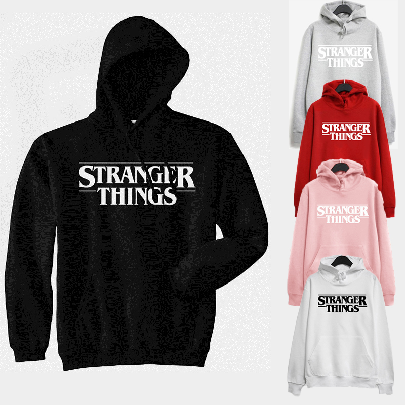 Stranger Things Hoodies Sweatshirt Women Winter Trendy Faces Print Oversized Loose Female Pullover Fashion Women Sudadera Mujer