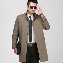Smart Casual Autumn Winter Mens Medium Length Trench Coats T