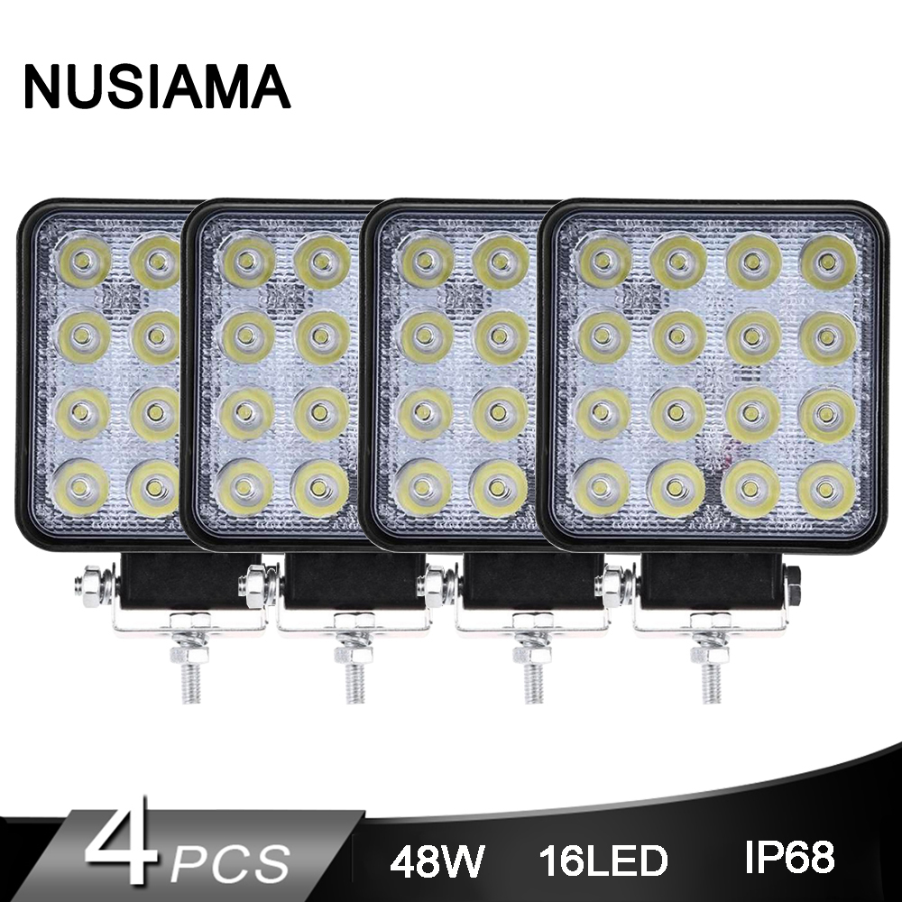 <font><b>4</b></font> Pcs <font><b>Led</b></font> Work Light 12V 24V <font><b>Led</b></font> Beam 4WD 4x4 Car <font><b>Led</b></font> <font><b>Bar</b></font> <font><b>Offroad</b></font> Flood Spot Combo Light For JEEP SUV Accessories Fog Lamp image