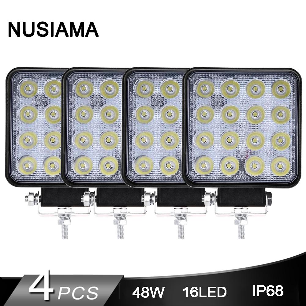 4 Pcs Led Work Light 12V 24V Led Beam 4WD 4x4 Car Led Bar Offroad Flood Spot Combo Light For JEEP SUV Accessories Fog Lamp