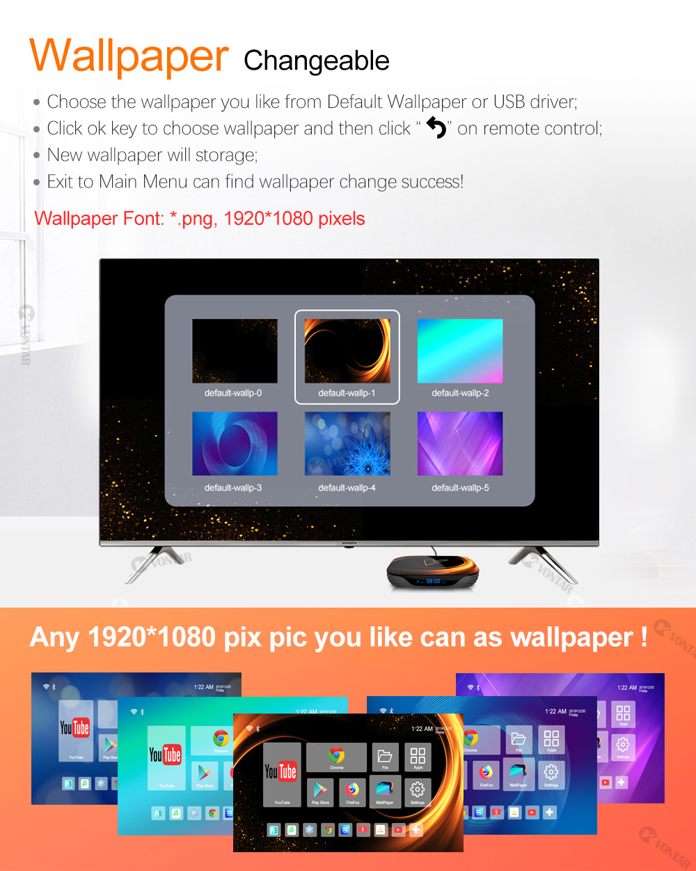 VONTAR X3 4GB 128GB 8K TV BOX Android 9 Android TVBOX pintar 9.0 - Audio dan video rumah - Foto 4