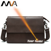 MVA 100% Men's Bag Genuine Leather Messenger Bag