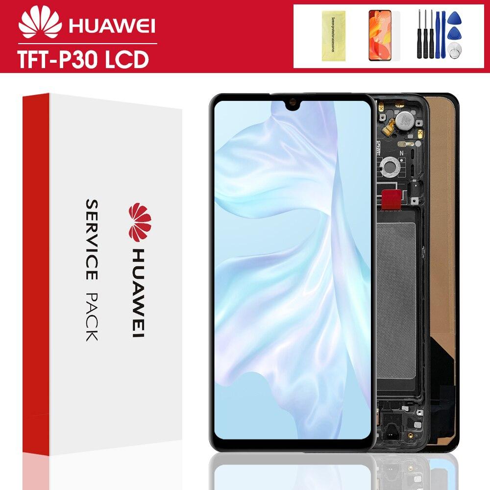 Jakość TFT dla Huawei P30 LCD ekran dotykowy wymiana Digitizer zgromadzenie dla Huawei P30 LCD ELE-L29 ELE-L09 ELE-AL00 wyświetlacz