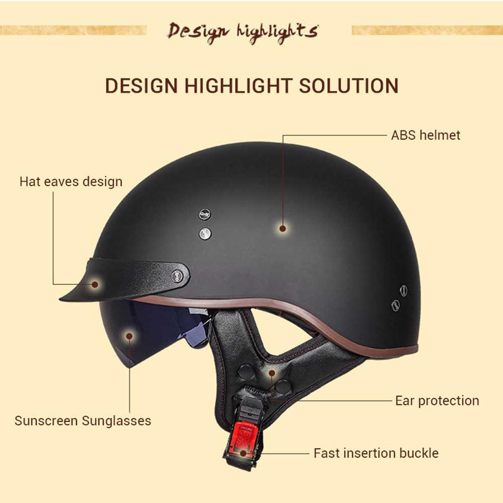 GXTการรับรองDOT Retroรถจักรยานยนต์หมวกกันน็อกสกู๊ตเตอร์ครึ่งหน้าBikerรถจักรยานยนต์Crashหมวกกันน็อกCasco Moto