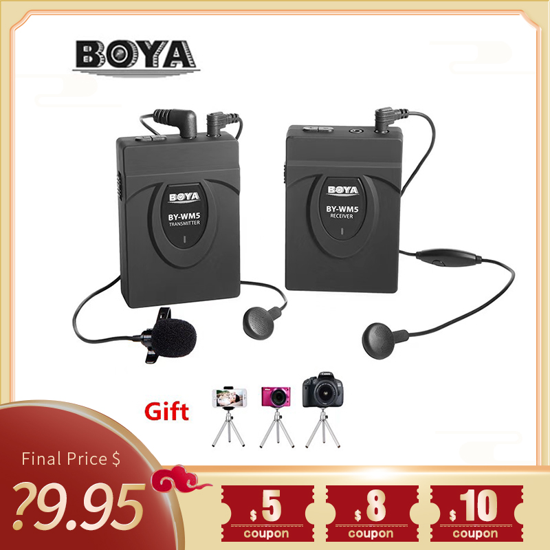 UHF Wireless Microphone-System BOYA ENG Omni-Directional DSLR BY WM4 for EFP DV Wm4-Mark-Ii title=