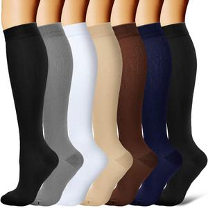 Compression Socks Women Men Best for Athletic, Edema, Diabetic,Flight Socks Shin Splints - Below Knee High