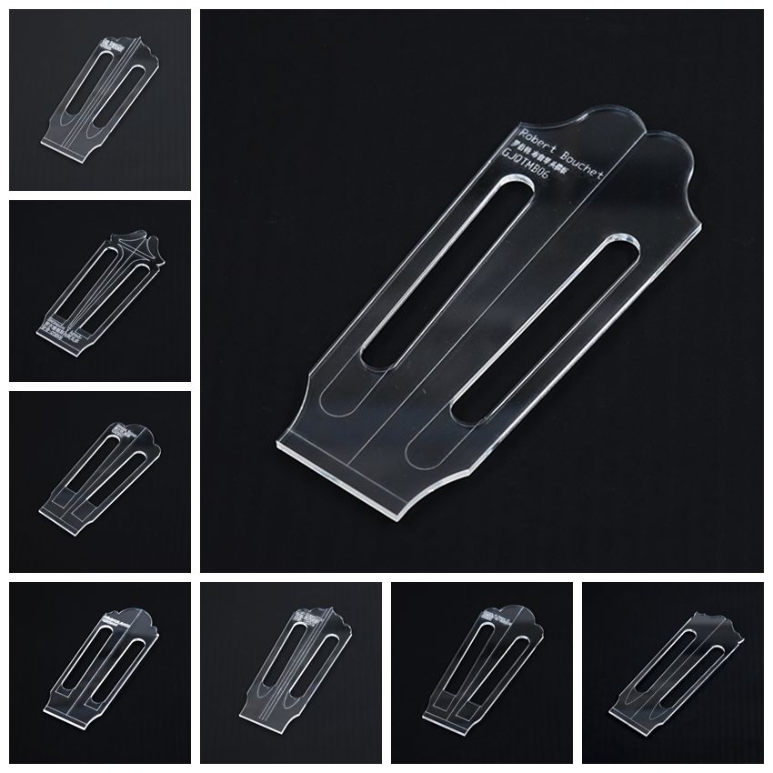 Famous Classical Guitar Head Template Shape Chord Knob Hole Site Making Tools Transparent Acrylic Template Guitar Making Mold