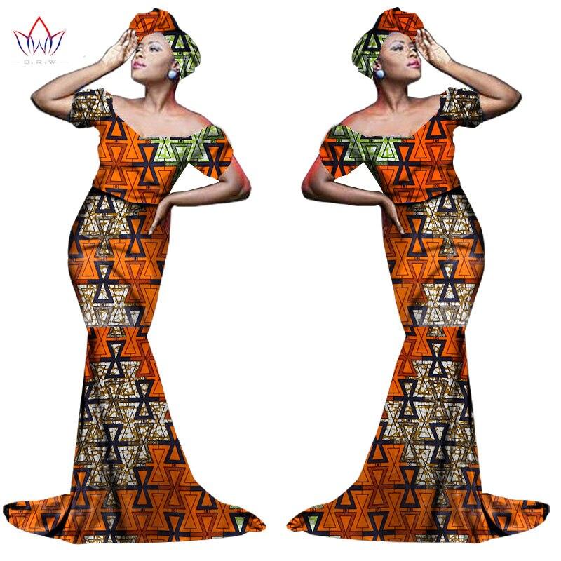 Африканский хлопчатобумажный материал Платья Для Женщин Дашики традиционная Анкара Мода Африка одежда с коротким рукавом Анкара платья WY963 - Цвет: 15