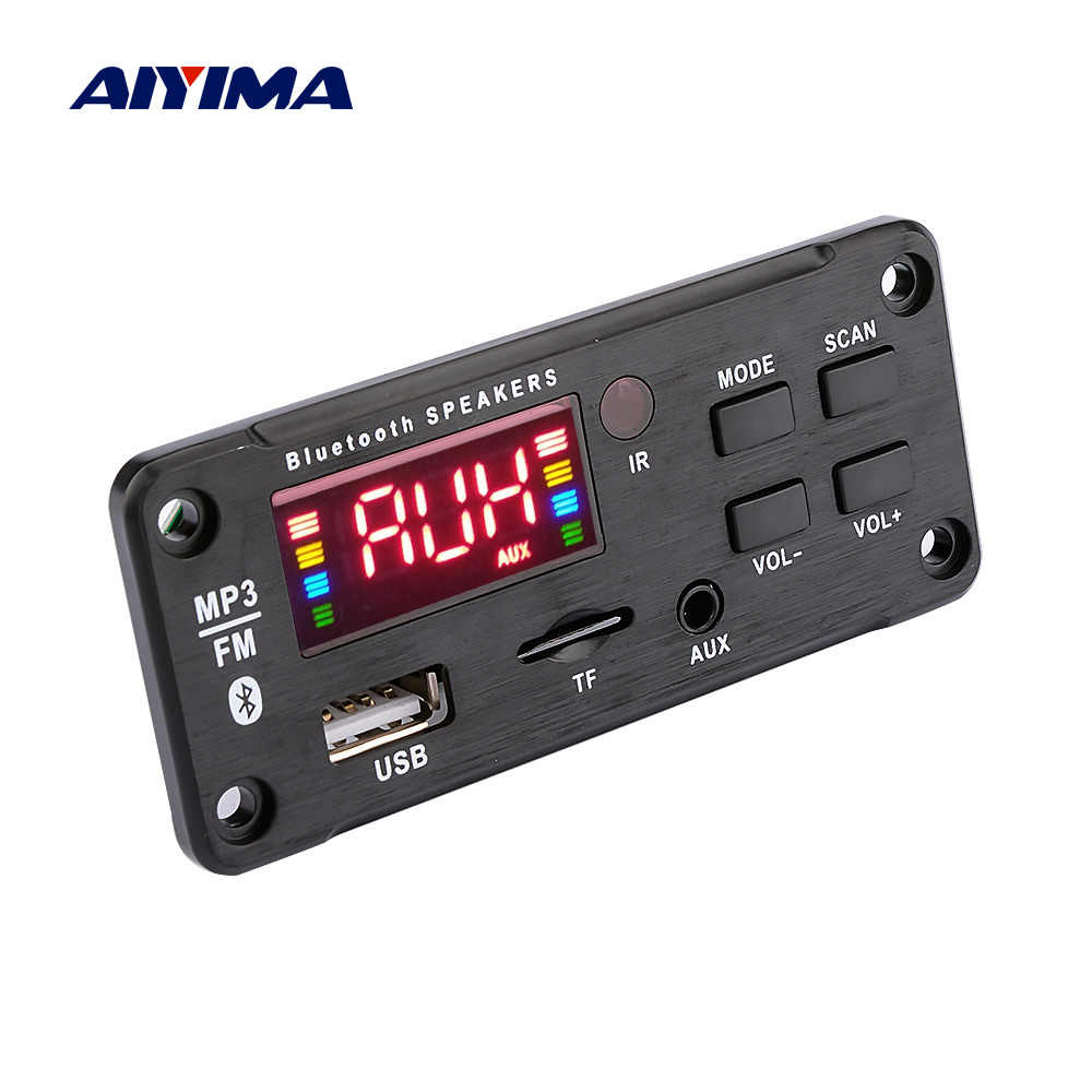 AIYIMA Auto Audio MP3 Muziek Speler Decoder Board Kleur Display AUX USB TF FM Bluetooth 5.0 Decodering Module DIY Speaker versterker