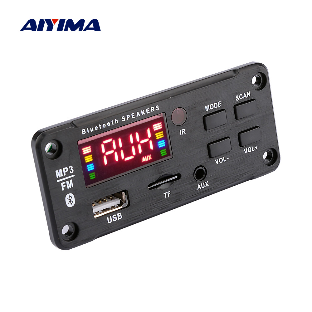 AIYIMA Car Audio MP3 Music Player Decoder Board Color Display AUX USB TF FM Bluetooth 5.0 Decoding Module DIY Speaker Amplifier