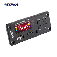 AIYIMA coche Audio MP3 reproductor de música tablero decodificador pantalla de Color AUX USB TF FM Bluetooth 5,0 Módulo de decodificación DIY altavoz amplificador
