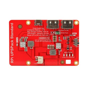 Charger Shield Battery Expansion Board Raspberry Pi UPS Lithium Battery Board for Raspberry Pi 3B+/3B/ 4B