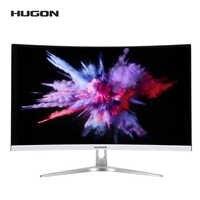 HUGON-pantalla curva para videojuegos, Monitor de 27 pulgadas, 1920x1080P, 75Hz, pantalla de ordenador LCD/TFT, interfaz VGA