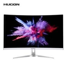 HUGON 27 inç 1920 × 1080P kavisli ekran 75Hz oyun monitörü PC LCD/TFT bilgisayar ekranı VGA arayüzü