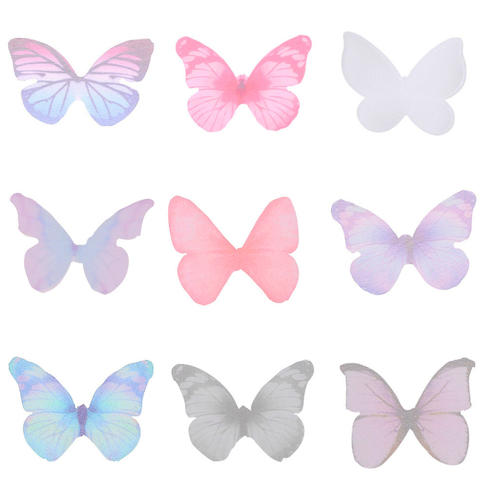 New 5PCS Colorful Butterfly For DIY Apparel Sewing /& Fabric Lace Choker Necklace