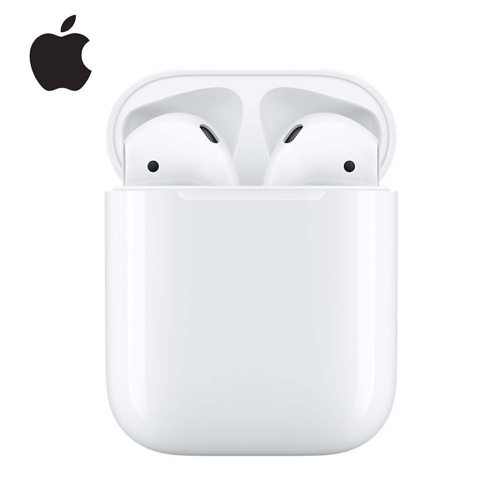 Apple AirPods 2 Wireless Bluetooth Earphone Deeper Bass Tones Connect Siri with Charging Case for iPhone iPad Mac Apple Watch