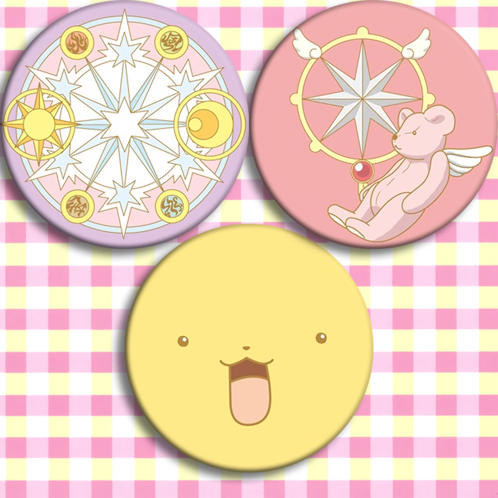 Japan Anime Card Captor Sakura Cute F Cosplay Badge Cartoon Brooch Pins Collection Bags Badges For Backpacks Button Gifts