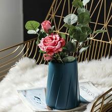 Plastic Vases Hydroponic-Plant-Ornaments Wedding-Decoration Anti-Ceramic European Is