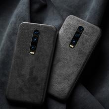 Genuine Leather case for Xiaomi mi 9T Pro 9 se cover shockproof Suede fabric Funda redmi k20 pro 7a 6a note 7