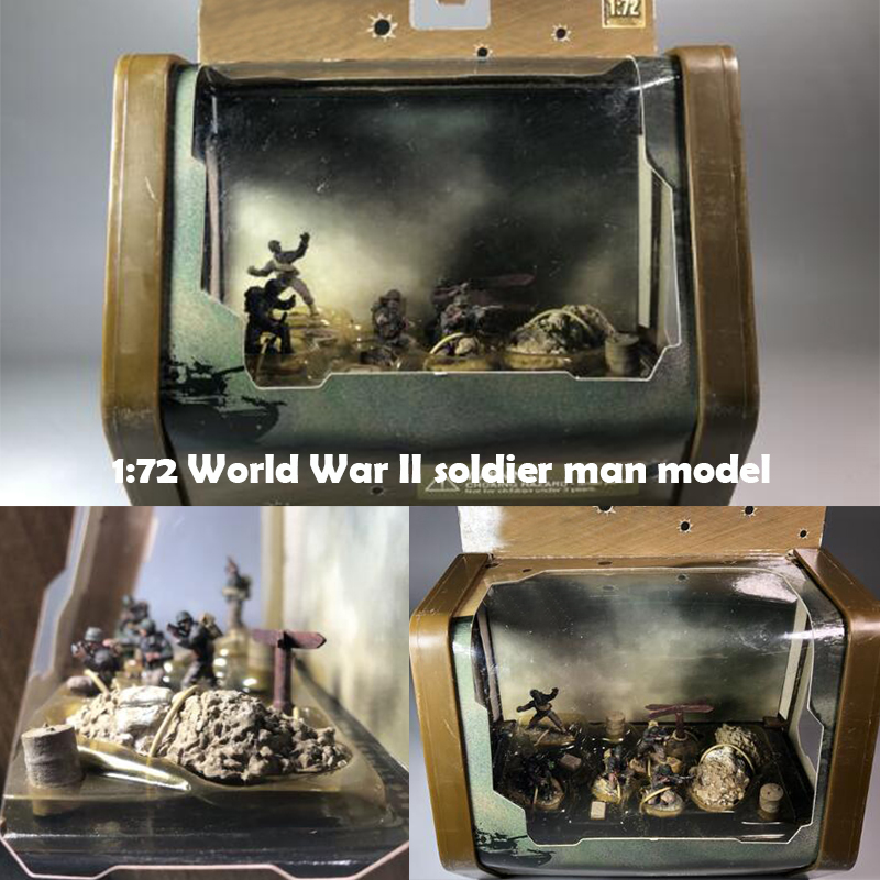 rare  Super value  1:72  World War II soldier man model  Scene suit resin 04#