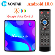 2020 TV Box Android 10 VONTAR X88 PRO 4GB 32GB 64GB Rockchip RK3318 4K 1080 Google toko X88Pro 10.0 Youtube Set Top Box(China)