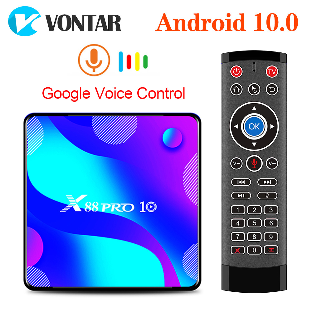 VONTAR  4GB 128GB 64GB Smart TV Box Android 10 X88 PRO Rockchip RK3318 4K Google Store X88Pro Android 10 0 Youtube Set Top Box