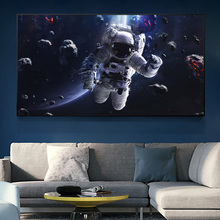 Modern Home Decor Astronaut Floats In Space Canvas Painting On Wall Art Poster And Prints Picture For Living Room Wall Decor michael jordan dunk pose poster and prints basketball superstar wall picture on canvas wall art painting for living room decor