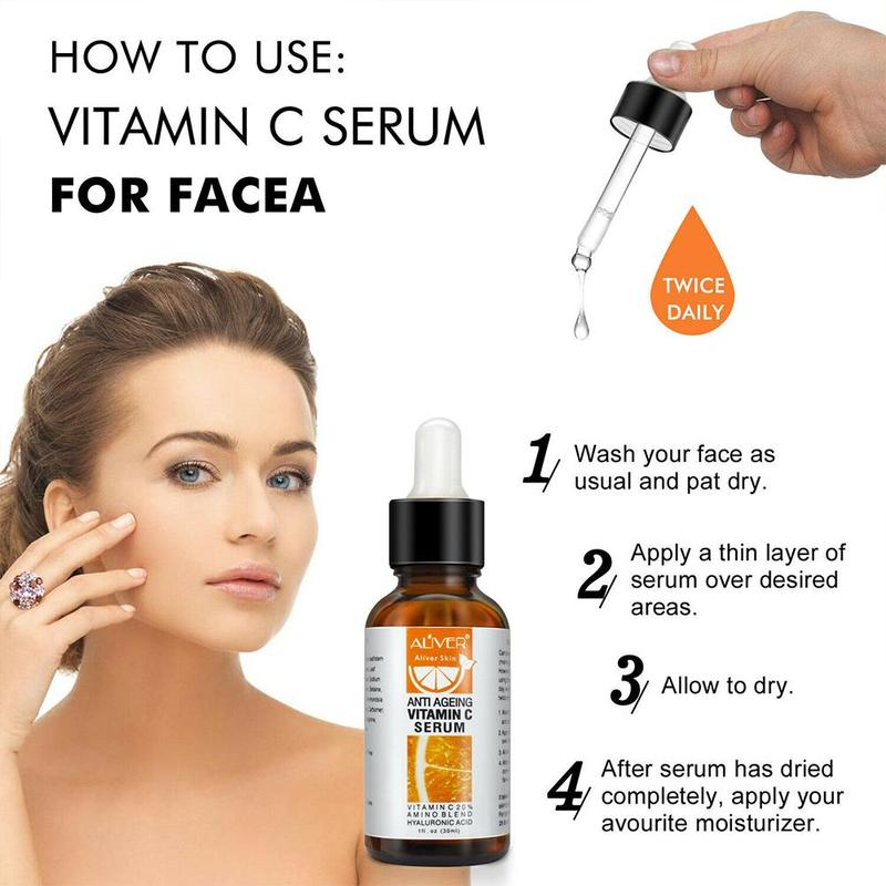 Vitamin C Serum VC Serum For Face Eye Treatment Remove Dark Spot Freckle Speckle Fade Ageless