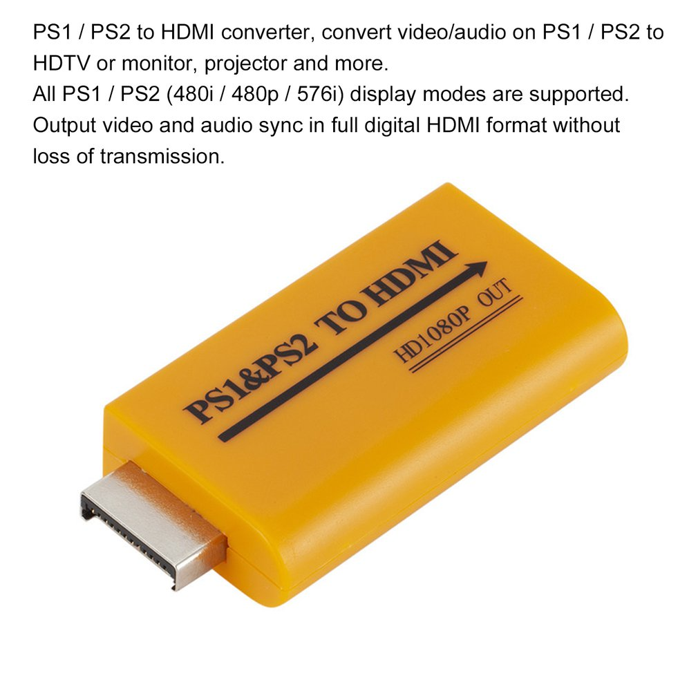 For PS1/PS2 to <font><b>HDMI</b></font> Hub 1080P <font><b>HDMI</b></font> Adapter Computers Desktop <font><b>PS</b></font> To <font><b>HDMI</b></font> Game Machine Laptop For PS1 PS2 image