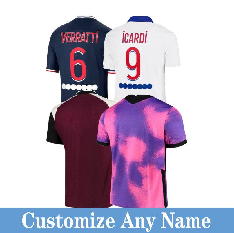 Le maglie da calcio parigi 2021 da uomo personalizzano la maglia da calcio maglia da calcio MBAPPE NEYMAR vertopi Di maria ICARDI Marquinhos