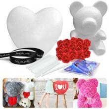 1Set Modelling Polystyrene Styrofoam Foam Bear Heart Craft For DIY Christmas Birthday Wedding Party Decoration Supply Gifts