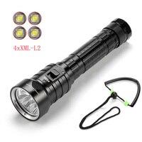 Ekaiou DX4S (actualizado de DX4) XM-L L2 linterna de buceo led antorcha impermeable 100m luz blanca antorcha led