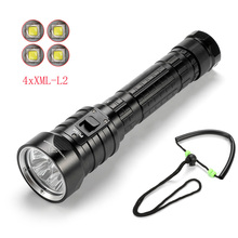 Solarstorm DX4S (upgraded from DX4) XM-L U2 LED diving flashlight torch brightness waterproof 100m white light led torch solarstorm upgrade version dx4s diving flashlight 4 xcree xml u2 100 meters 3200 lumens suitable for outdoor sports diving