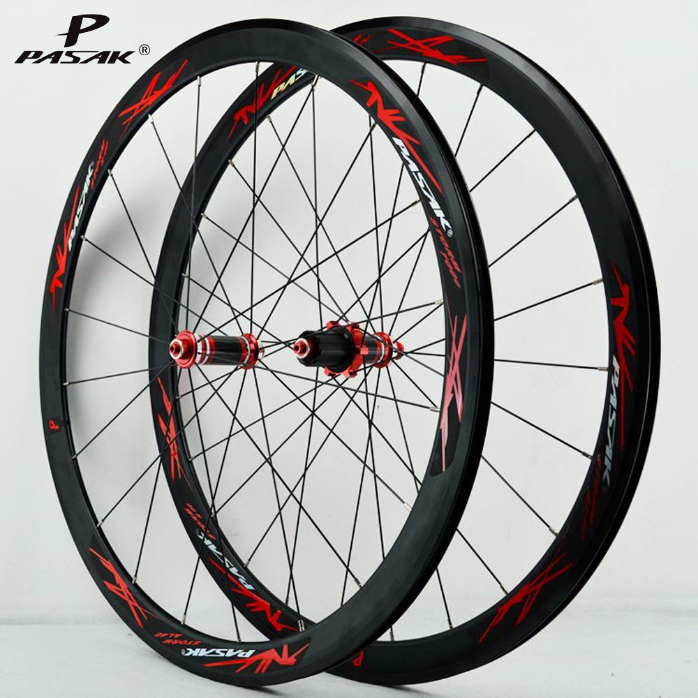 Pasak <font><b>700C</b></font> Wheelset 30mm 40mm <font><b>Rim</b></font> Depth V/C Brake Sealed Bearing Front 2 Rear 5 Carbon Hubs <font><b>20H</b></font> 24H F100mm R130mm Space image